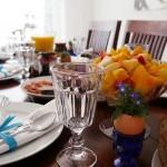 Фруктовый салат на столе